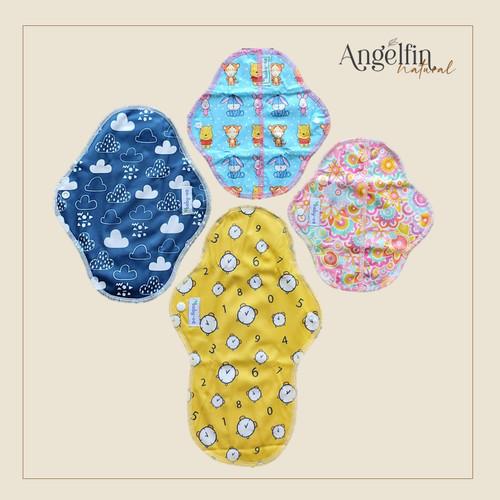 Foto Produk Reusable Menstrual Pad (Pembalut Kain) - 1 set (isi 4) dari AngelFin Natural