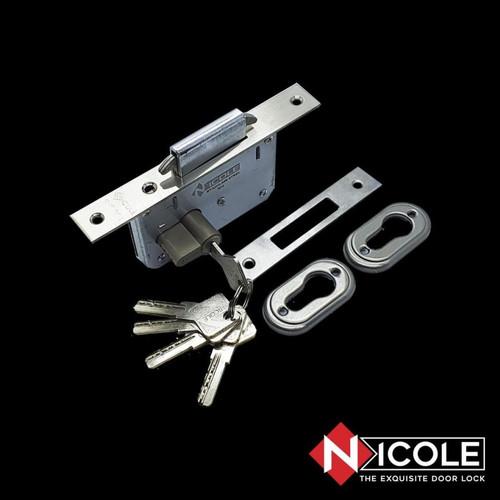 Foto Produk Body Kunci Mekar / Body Kunci Geser Sliding Door Stainless Steel - Cylinder Biasa dari Arga Anggala Sentosa