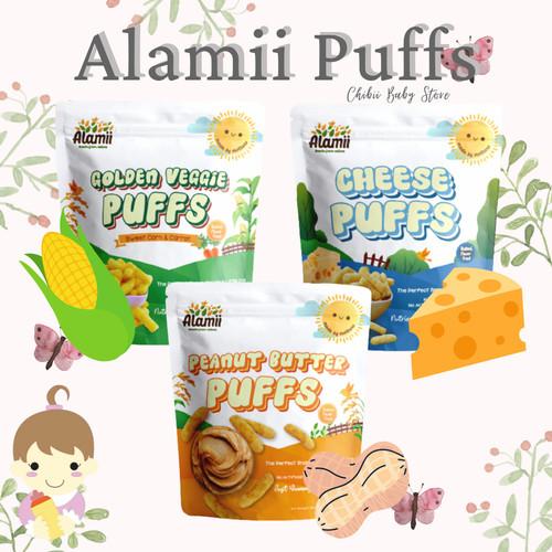 Foto Produk Alamii Puffs Alamii Puff 30gr - Snack Bayi Biscuit Bayi Promina Puff M - PEANUT BUTTER dari Chibii Baby Store