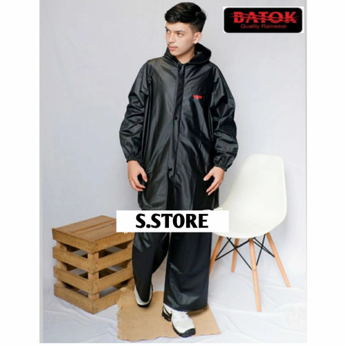 Foto Produk jas hujan Motor terbaik by BATOK tebal,awet,anti rembes best quality - Hitam, L dari S.STORE OFFICIAL