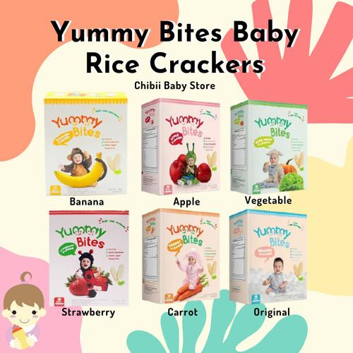 Foto Produk Yummy Bites Rice Crackers 25 gram / Biskuit Bayi Sehat Bergizi / Snack - Pisang dari Chibii Baby Store
