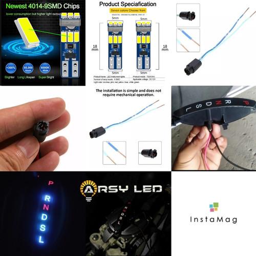 Foto Produk Soket + Lampu T5 Indikator Transmisi Matic Brio Mobilio BRV JAZZ - Putih dari arsystore