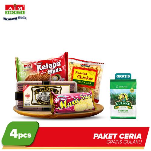 Foto Produk AIM Paket Ceria Free Gulaku dari AIM Biscuits Official Store