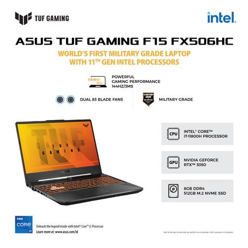 Foto Produk ASUS TUF FX506HC-I735B6G-O/i7-11800H/8GB/512GB SSD/RTX3050/W10+OHS dari ROG Store SUB