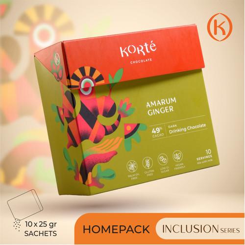 Foto Produk KORTE AMARUM GINGER 49% (Homepack - 250g) dari Korte Chocolate