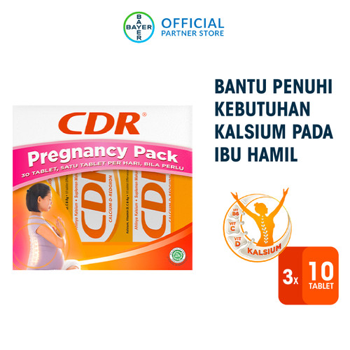 Foto Produk Pregnancy Pack (CDR Rasa Jeruk 10 Tablet x 3 Unit) dari Bayer Health Partner