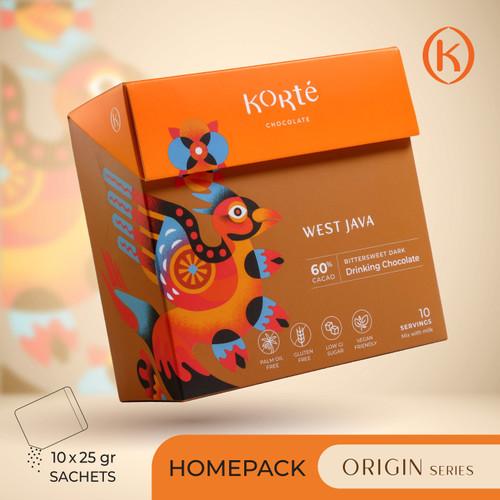 Foto Produk KORTE WEST JAVA 60% (Homepack - 250g) dari Korte Chocolate
