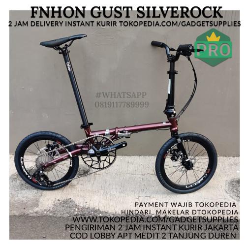 Foto Produk Sepeda Lipat Fnhon Gust Black Gold Spesial Edition Custom - Merah dari JUALGADGETS