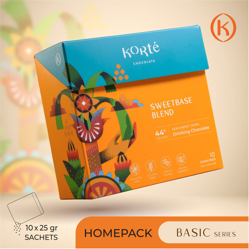 Foto Produk KORTE SWEETBASE BLEND 44% (Homepack - 250g) dari Korte Chocolate