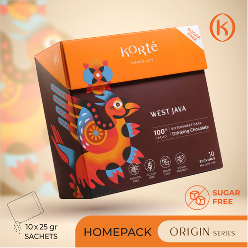 Foto Produk KORTE WEST JAVA 100% (Homepack - 250g) dari Korte Chocolate