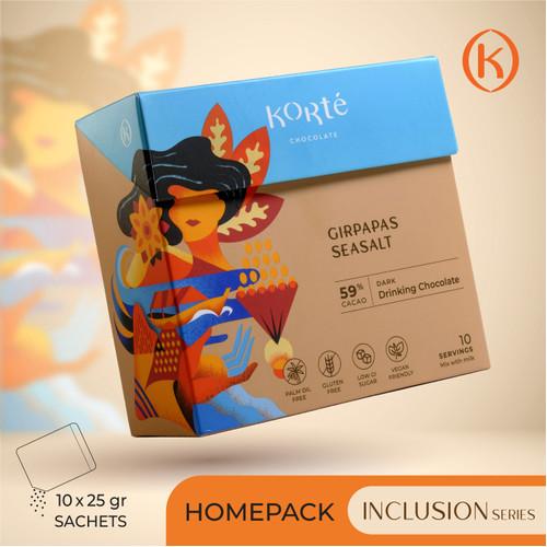 Foto Produk KORTE GIRPAPAS SEA SALT 59% (Homepack - 250g) dari Korte Chocolate
