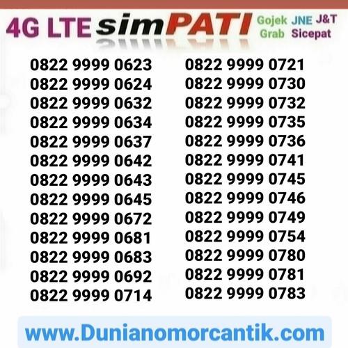 Foto Produk Nomor Cantik Simpati Loop Kartu Perdana Telkomsel Simpati Cantik dari Nomor Cantik 89