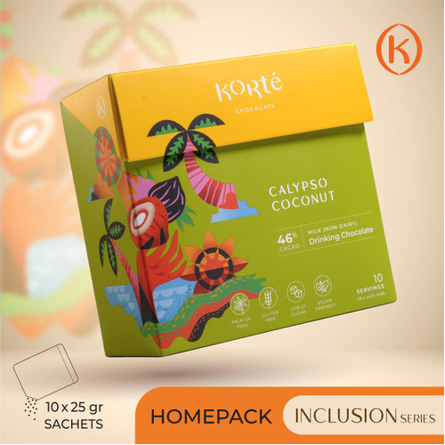 Foto Produk KORTE CALYPSO COCONUT 46% (Homepack - 250g) dari Korte Chocolate