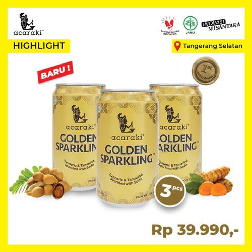 Foto Produk Paket Acaraki Golden Sparkling isi 3pcs 320ml - Kunyit Asem with Soda dari Warisan Hayam Wuruk