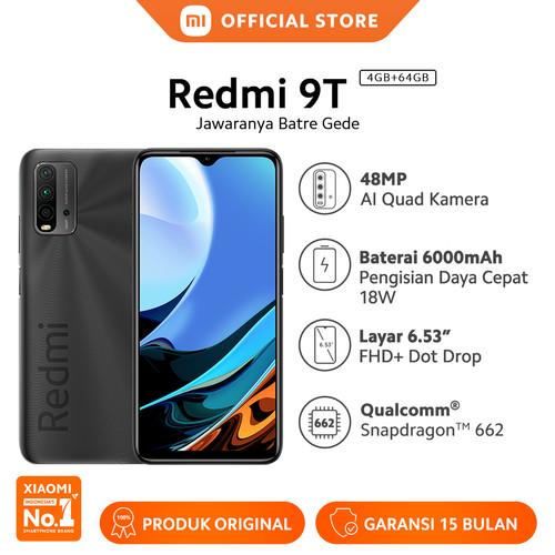 Foto Produk Xiaomi Mi Redmi 9T 4/64GB 48MP Quad Kamera Snapdragon™ Smartphone - Grey dari Xiaomi Official Store