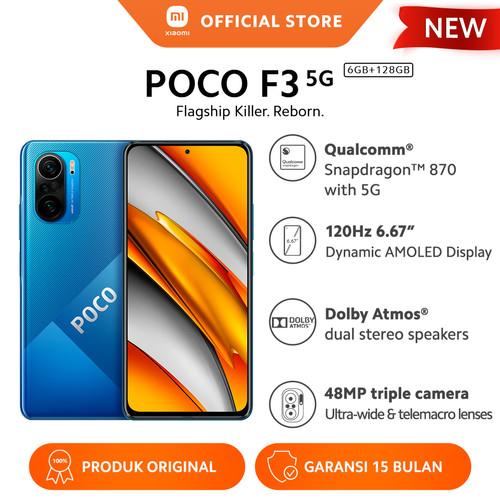 Foto Produk XIAOMI POCO F3 6/128GB NFC Snapdragon™ 870 48MP 4520mAh HP Android - Deep Ocean Blue dari Xiaomi Official Store