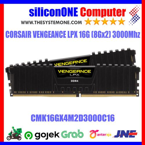 Foto Produk Corsair Vengeance LPX CMK16GX4M2D3000C16 (2X8GB) 3000Mhz Dual 16G 16GB dari silicon ONE Computer