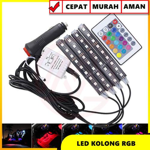 Foto Produk LAMPU LED KOLONG DASHBOARD RGB MULTI COLOUR COLOK LIGHTER REMOTE dari Modifikasi Market