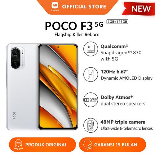 Foto Produk XIAOMI POCO F3 6/128GB NFC Snapdragon™ 870 48MP 4520mAh HP Android - Arctic White dari Xiaomi Official Store
