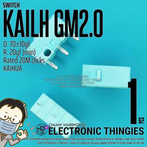 Foto Produk KAILH GM 2.0 MOUSE SWITCH CYAN KAIHUA GM2.0 dari Electronic Thingies