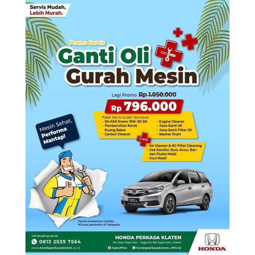 Foto Produk PROMO GANTI OLI PLUS GURAH MESIN HEMAT dari Honda Perkasa Klaten
