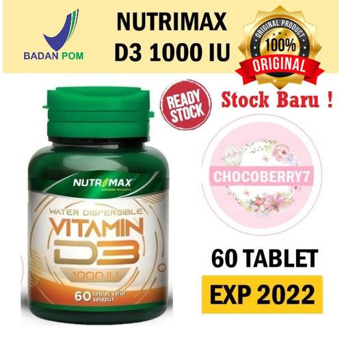 Foto Produk Nutrimax Vitamin D3 1000 IU isi 60 Tablet Vit D 3 1000IU Imunitas Imun - D3 1000 IU dari chocoberry7