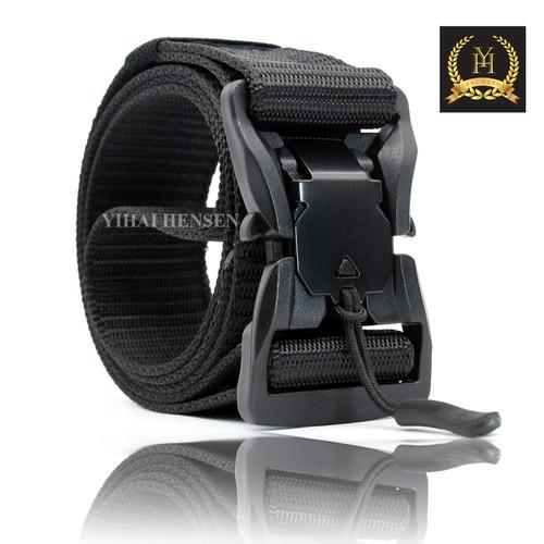 Foto Produk [Y&H] Ikat Pinggang Pria Canvas Sabuk NYLON Military Tactical Belt - Hitam dari Y & H Official Shop