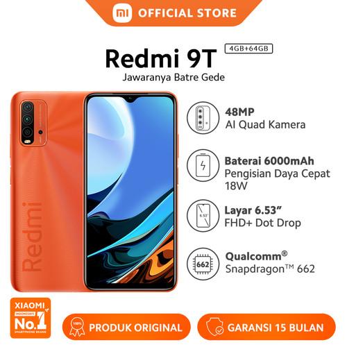 Foto Produk Xiaomi Mi Redmi 9T 4/64GB 48MP Quad Kamera Snapdragon™ Smartphone - Orange dari Xiaomi Official Store