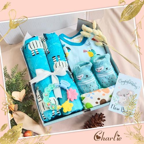 Foto Produk Paket Hampers Baby Gift Born Bayi Lahir Untuk Kado Lahiran Kado Balita - CHARLIE, BOY dari Jaxine Sprei & Bedcover
