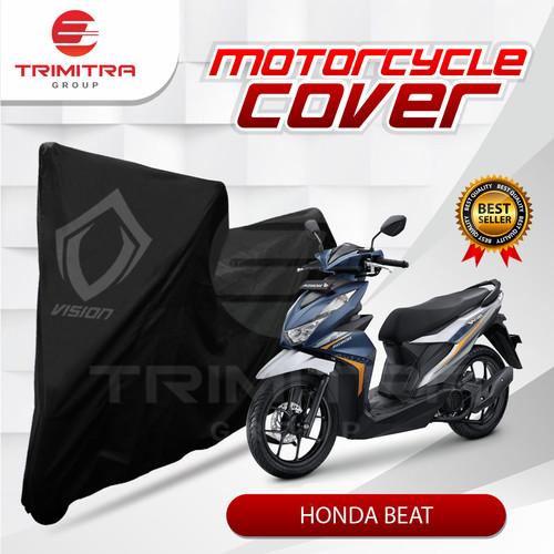 Foto Produk Sarung Motor Matic / Cover Penutup Tutup Motor Beat Hitam Vision - Vision Indoor dari Trimitra Group
