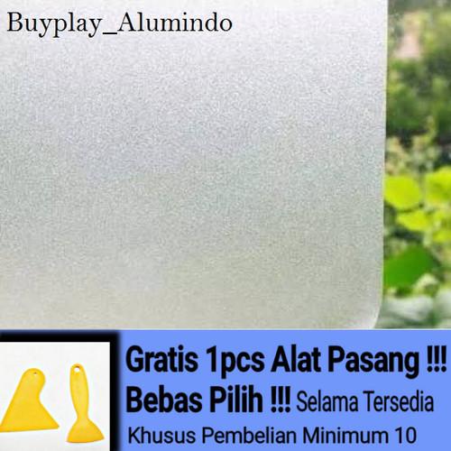 Foto Produk Sticker / Stiker Kaca Film Sandblast Sunblast motif 9022-1 Polos Bura - Tipe 0509 dari buyplay_Alumindo