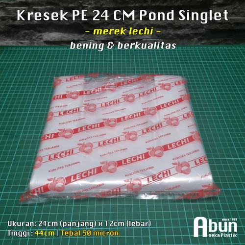 Foto Produk Kantong Kresek PE Bening Uk 24. (500gr) - POLOS Lechi dari Abun Aneka Plastik