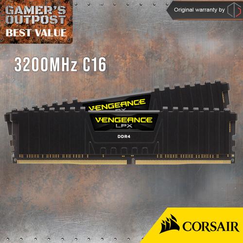Foto Produk Corsair Vengeance LPX DDR4 16GB (2x8) 3200MHz CMK16GX4M2B3200C16 - Hitam dari Gamer's Outpost