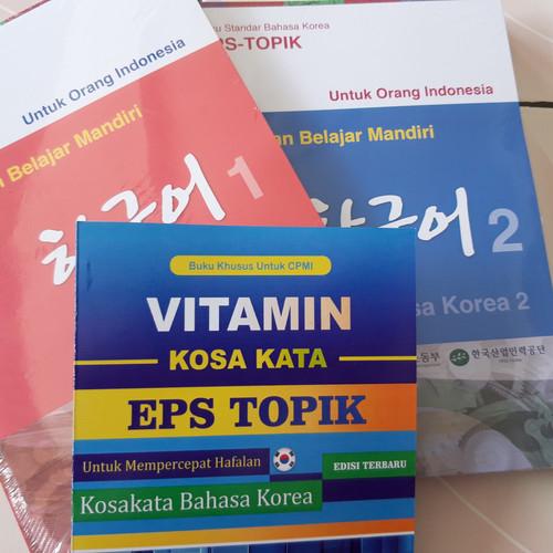 Foto Produk BUKU BAHASA KOREA STANDART TEXTBOOK EPS TOPIK + KUMPULAN KOSAKATA dari Korean First Official
