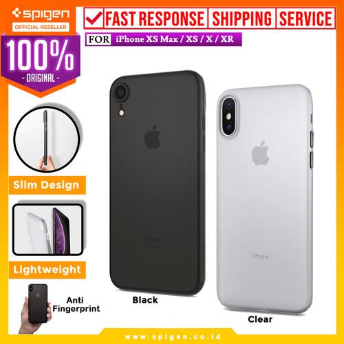 Foto Produk Case iPhone XS Max / XS / X / XR Case Spigen Super Slim 0.3mm Air Skin - XR Black dari Spigen Official