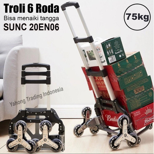 Foto Produk Troli Lipat Bisa Naik Tangga Trolli Galon Gas Trolley Aluminium dari Yahong Trading Indonesia