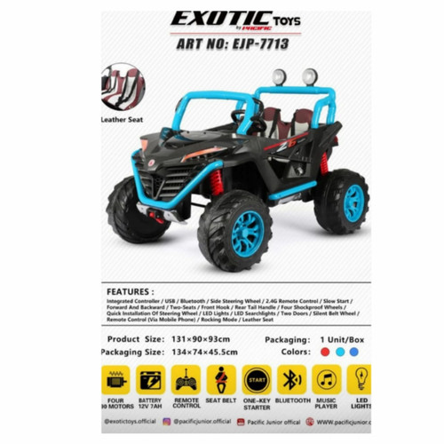 Foto Produk Mainan Mobil Aki Anak Jeep Exotic EJP 7713 dari Mainan Anak Dede