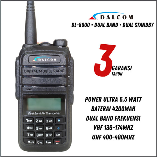 Foto Produk HT DALCOM DL- 8000 DUALBAND HT BAOFENG UV5R UV5RA UV5RE UV5RC UV6R A58 dari Sahabat Dalcom