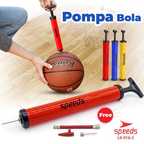 Foto Produk Pompa Angin Bola Basket Sepak Futsal Volly Pump Ball 016-2 10pc=1.3kg - Kuning dari Speeds Official Store