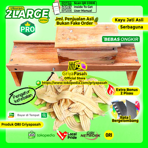 Foto Produk Pengiris Keripik Serbaguna Pisang Singkong Super Jumbo Muat 25 cm dari Griyapasah Official Store