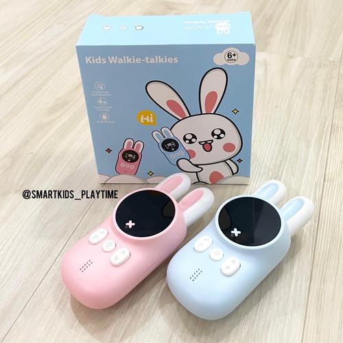 Foto Produk Kids Bunny Walkie Talkie Mainan Edukasi Anak - Blue dari Smartkids_playtime