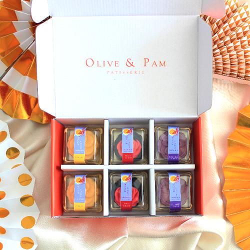 Foto Produk Olive and Pam Snowskin Mooncake 6 pcs / Kue Bulan dari OLIVE AND PAM PATISSERIE