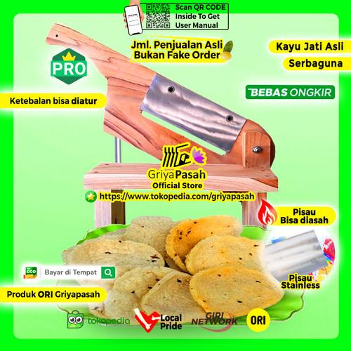Foto Produk Mesin pemotong pengiris keripik suweg porang manual kayu jati - Kayu Mahoni dari Griyapasah Official Store