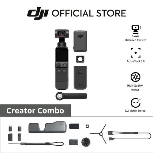 Foto Produk DJI Pocket 2 Combo - 3-Axis Gimbal Stabilizer Cam 4K - Garansi 1 Tahun dari DJI Official Store