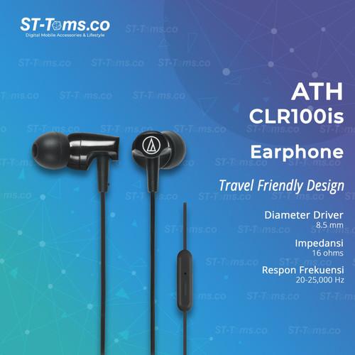 Foto Produk Audio Technica ATH-CLR100is with Mic - Black - Hitam dari ST-Toms.co