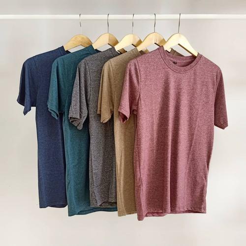Foto Produk Baju Kaos Polos Siro PREMIUM 100% Cotton Combed 30S Kaos Distro - Denim Siro, L dari TriLoka Store