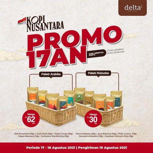 Foto Produk Paket Kopi Nusantara - Arabika atau Robusta (Limited) dari Taman Delta Coffee Roastery (Supplier Kopi)