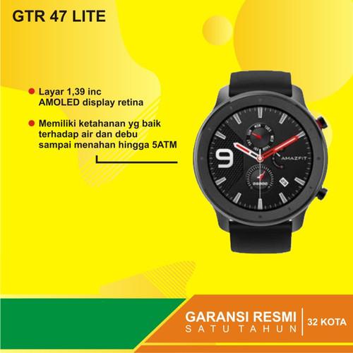 Foto Produk Amazfit GTR 47mm LITE Smartwatch 8 Sports Modes - Garansi Resmi dari Kardel Shop