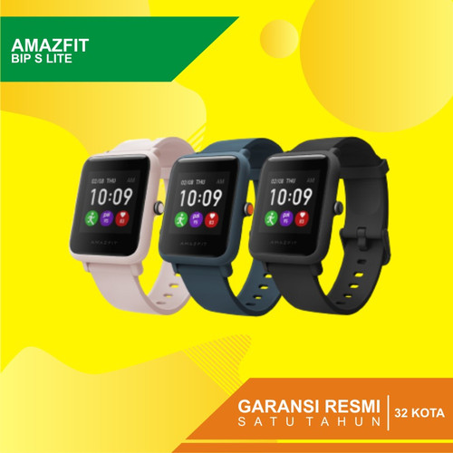 Foto Produk Amazfit BIP S Lite Fitness Fashion Smartwatch Garansi resmi - Hitam dari Kardel Shop