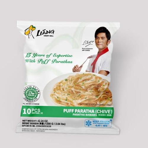 Foto Produk Roti Canai/Cane/Maryam/Prata/Frozen Scallion Puff Paratha - 10pcs, 1200gr dari Liang Sandwich Bar - LMP